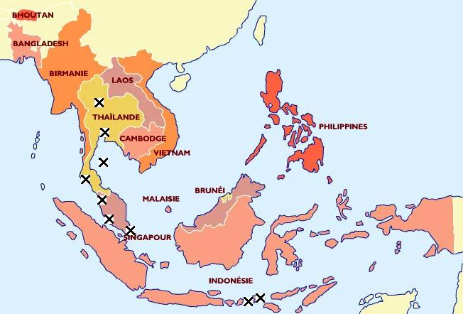 pays exotique en Asie